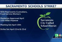 SEIU sets strike dates in the Sacramento City Unified School District for custodians and food service workers