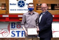 Teamsters Local 25 awards a scholarship to Saugus High School graduate Kenny