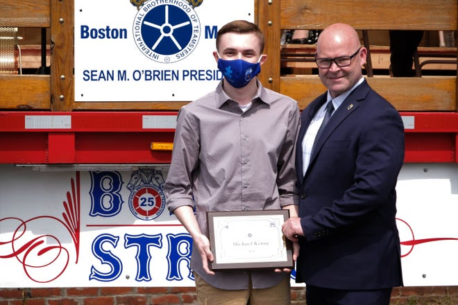 teamsters-local-25-awards-a-scholarship-to-saugus-high-school-graduate-kenny