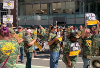 Miners protest in New York City in support of striking warrior met workers